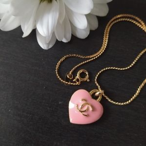 Reworked Chanel Pink Heart necklace